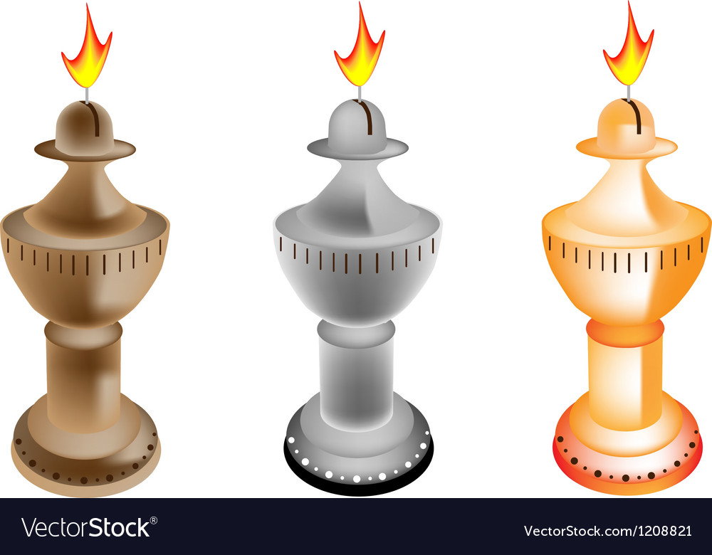 Set of old fashioned oil lamp vector   Price: 1 Credit (USD $1)