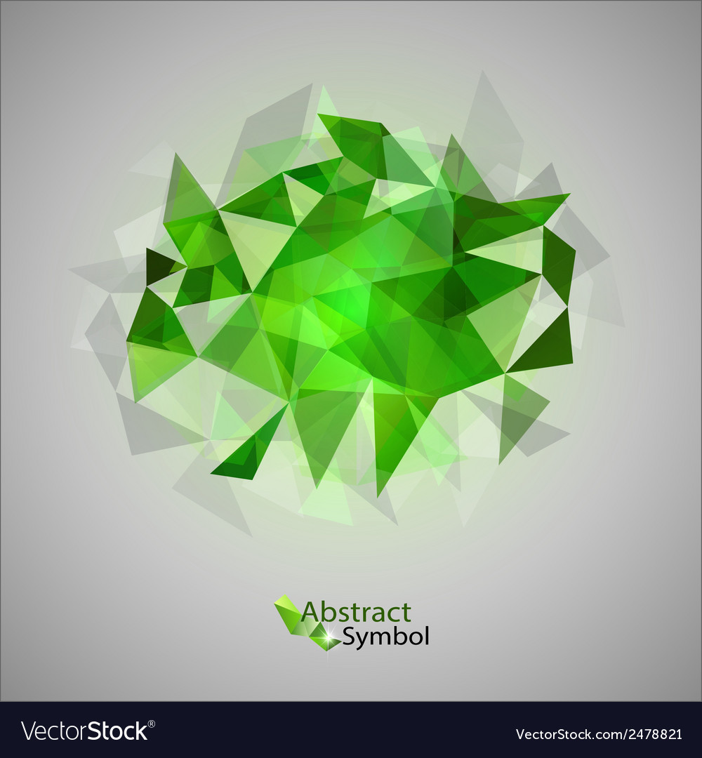 Triangles on gray green vector | Price: 1 Credit (USD $1)