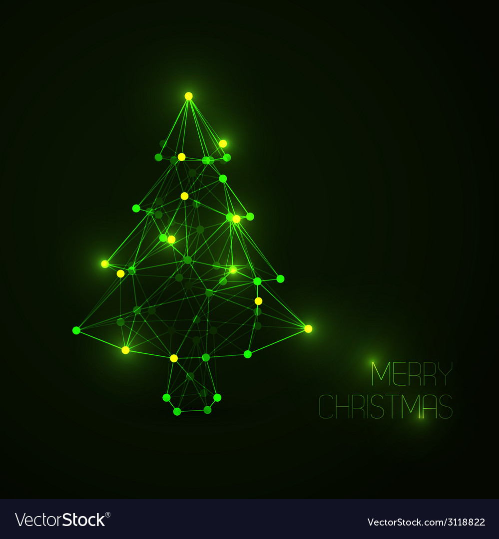 Abstract christmas tree made from light lines and vector | Price: 1 Credit (USD $1)