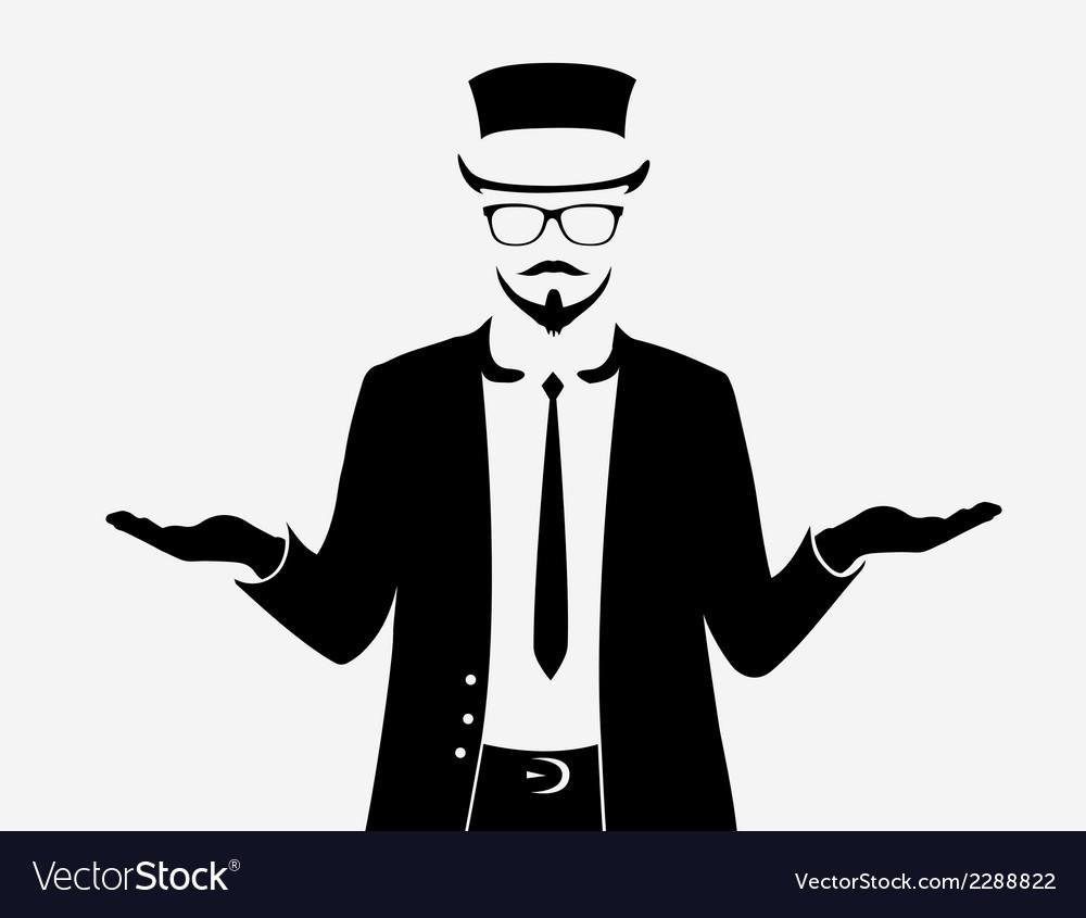 Businessman web icon vector | Price: 1 Credit (USD $1)
