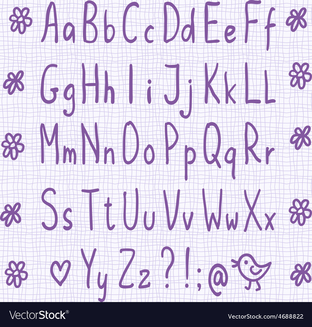 Hand drawn thin font vector   Price: 1 Credit (USD $1)