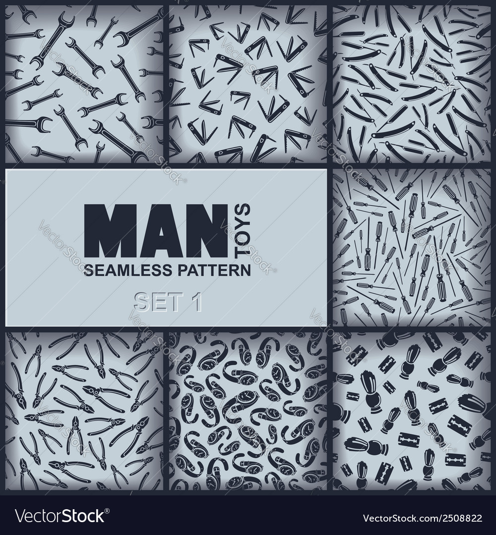 Seven mens seamless pattern vector | Price: 1 Credit (USD $1)