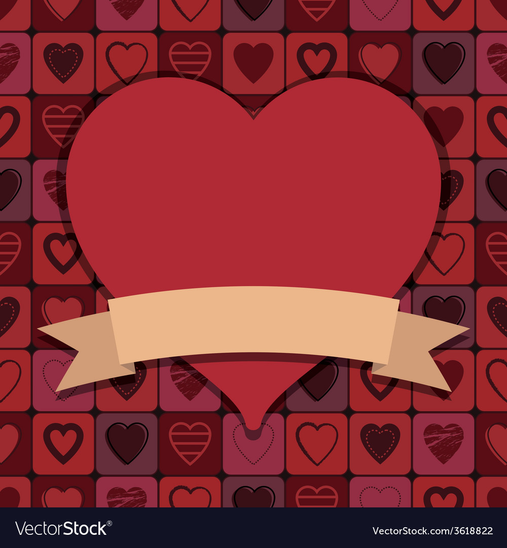 Valentine hearts decoration vector | Price: 1 Credit (USD $1)