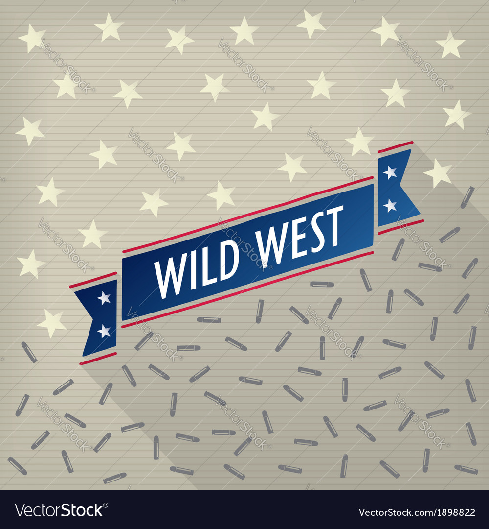 Wild west poster with bullets and stars vector | Price: 1 Credit (USD $1)