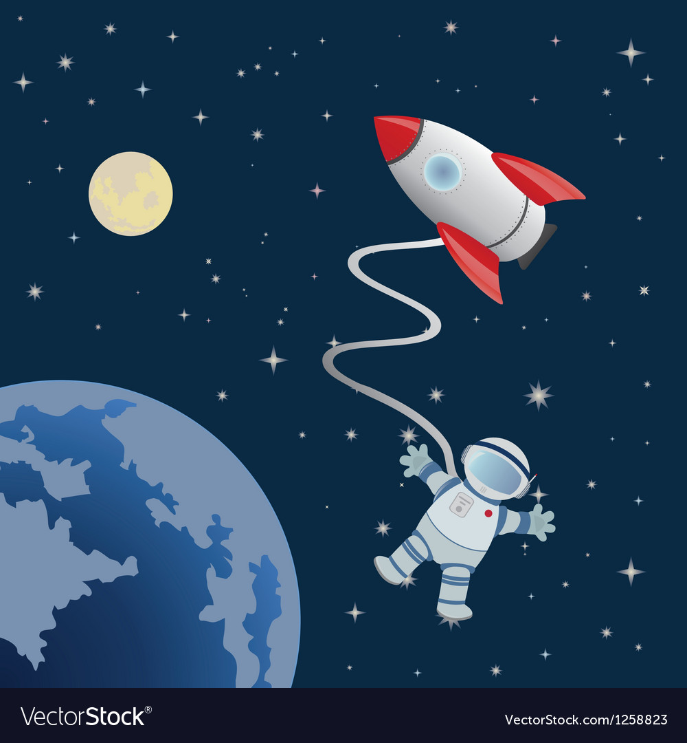 Astronaut vector | Price: 1 Credit (USD $1)