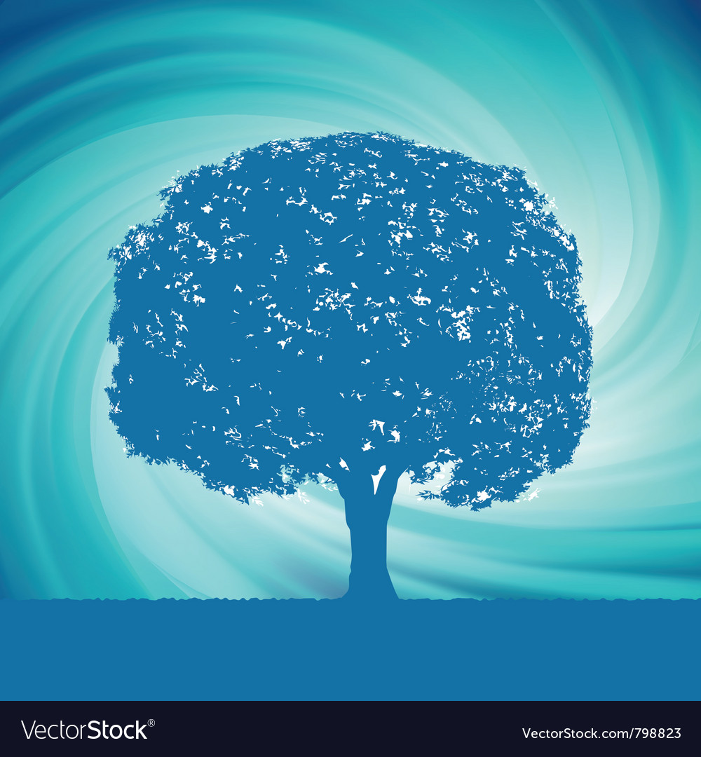 Blue mystical tree vector | Price: 1 Credit (USD $1)