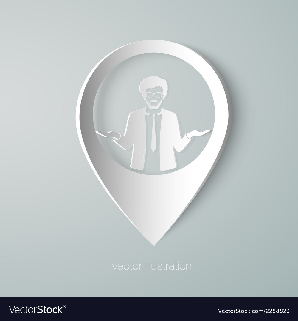 Businessman web pointer icon vector | Price: 1 Credit (USD $1)