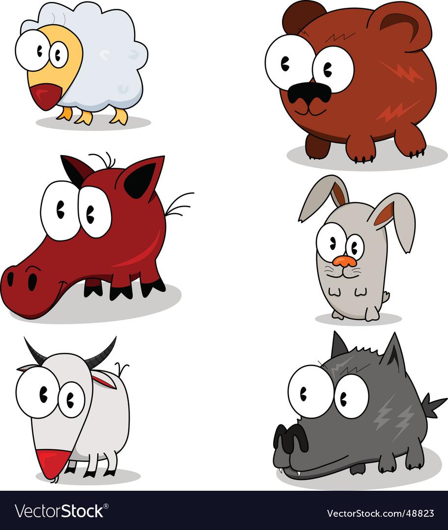 Cartoon animals vector | Price: 1 Credit (USD $1)