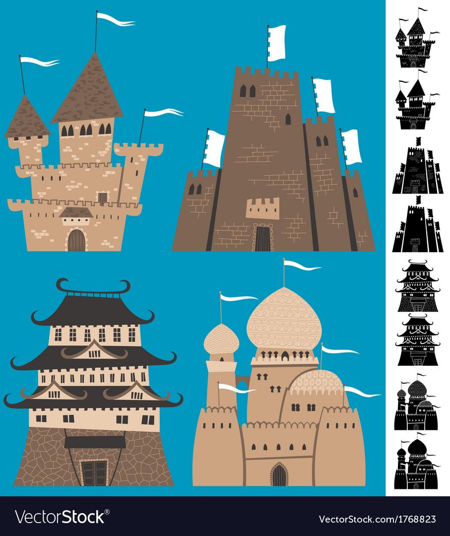 Cartoon castles vector | Price: 1 Credit (USD $1)