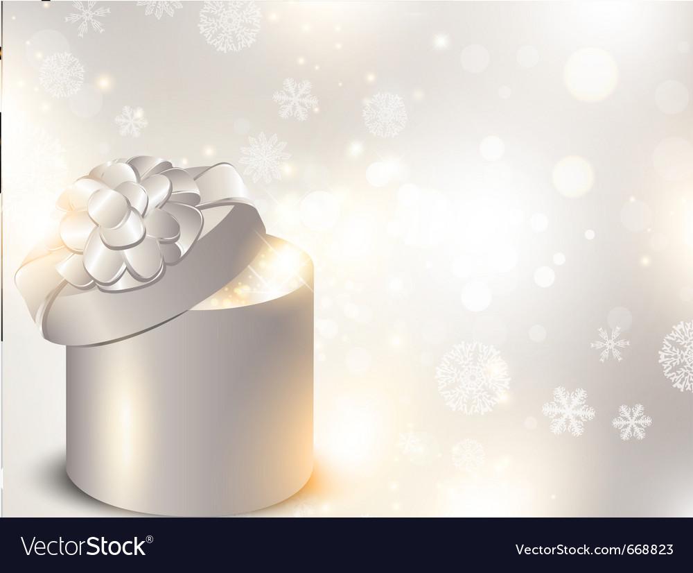 Christmas holiday gift box vector | Price: 1 Credit (USD $1)