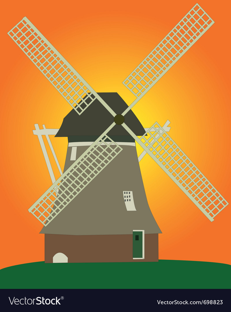 Dutch windmill vector | Price: 1 Credit (USD $1)