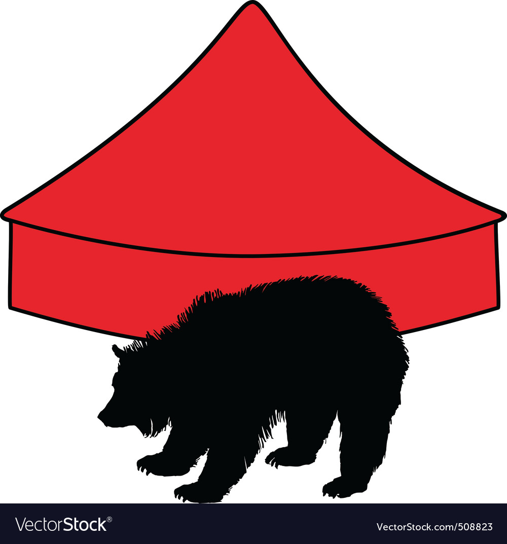 Grizzly bear in circus vector | Price: 1 Credit (USD $1)
