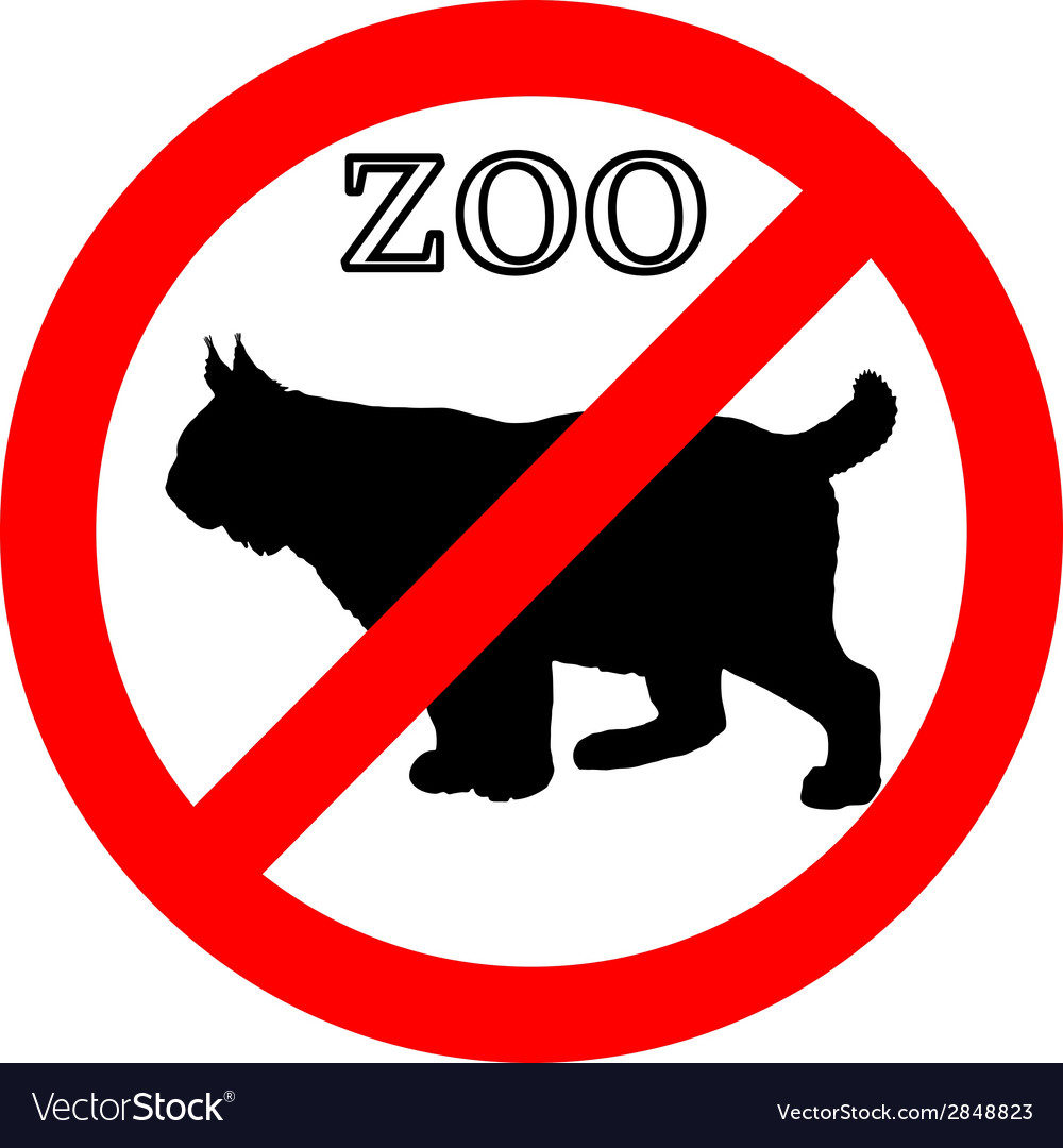 Lynx in zoo prohibited vector | Price: 1 Credit (USD $1)