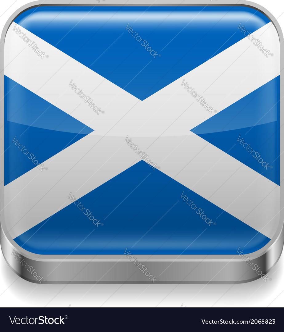 Metal icon of scotland vector   Price: 1 Credit (USD $1)