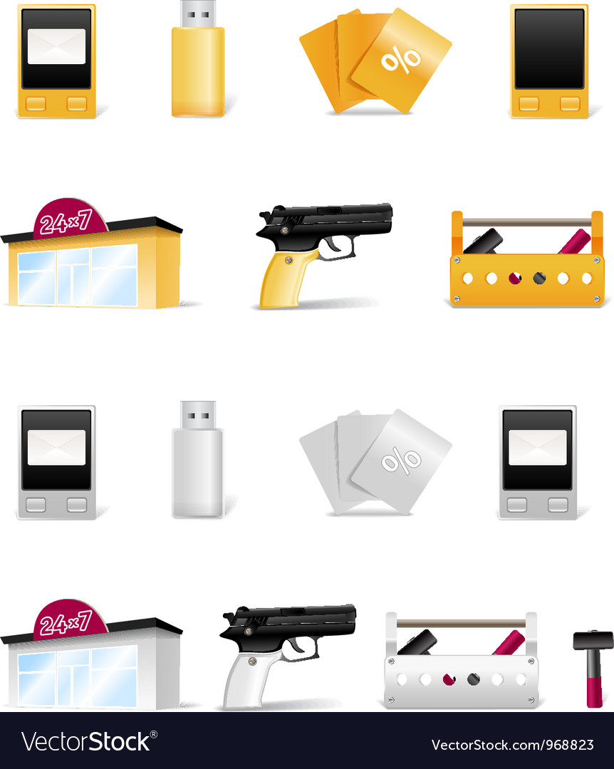 Modern stuff collection vector | Price: 1 Credit (USD $1)