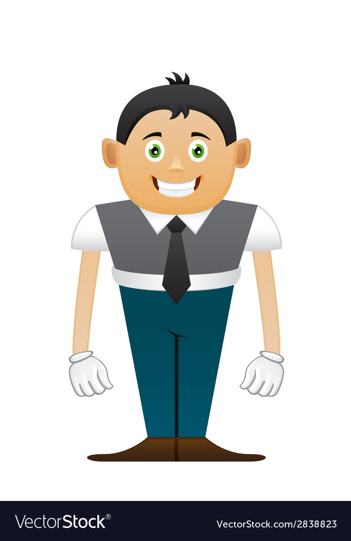 Small office man vector | Price: 1 Credit (USD $1)