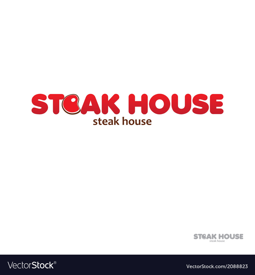 Steak house vector | Price: 1 Credit (USD $1)
