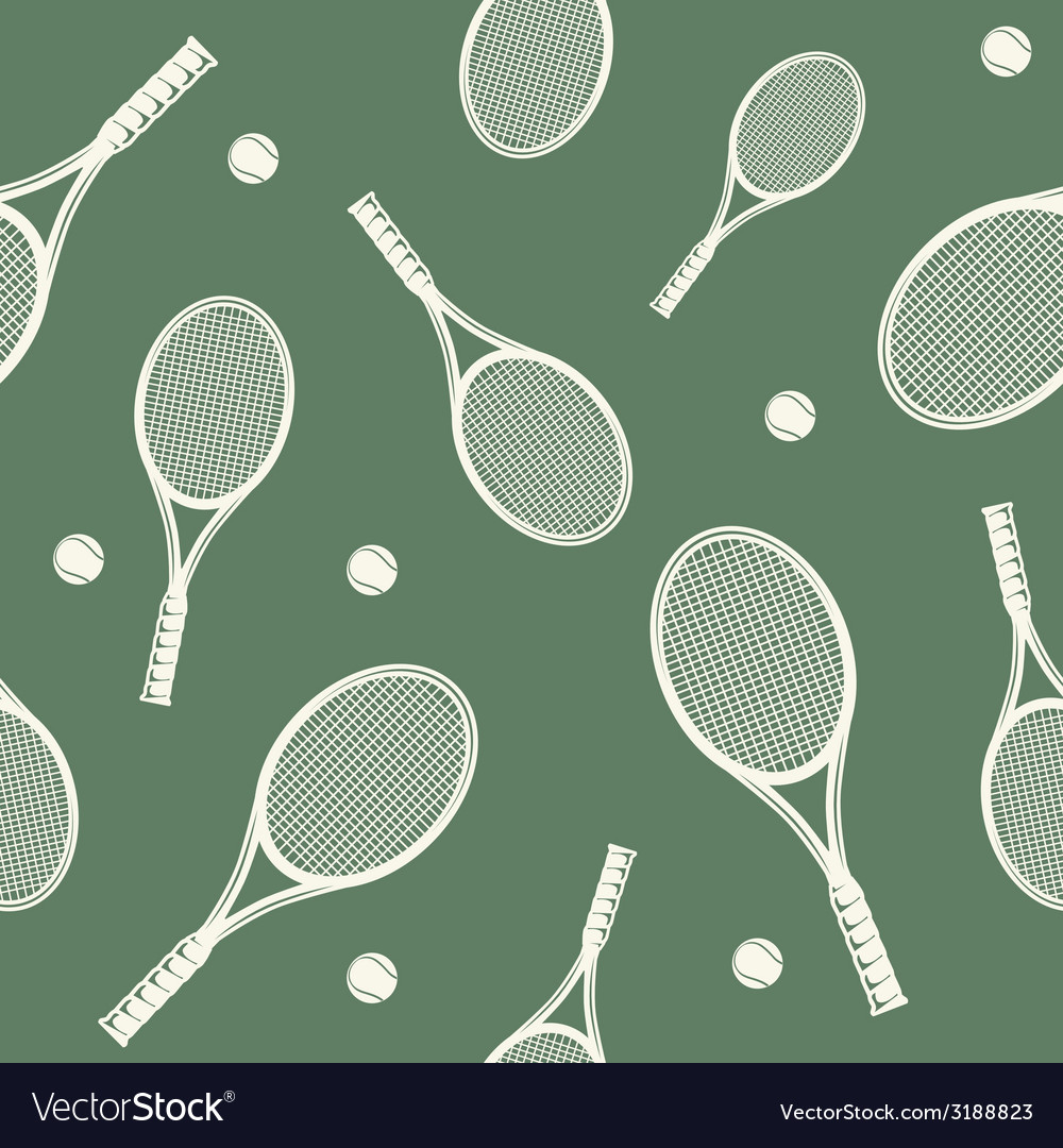 Tennis rackets seamless pattern vector | Price: 1 Credit (USD $1)
