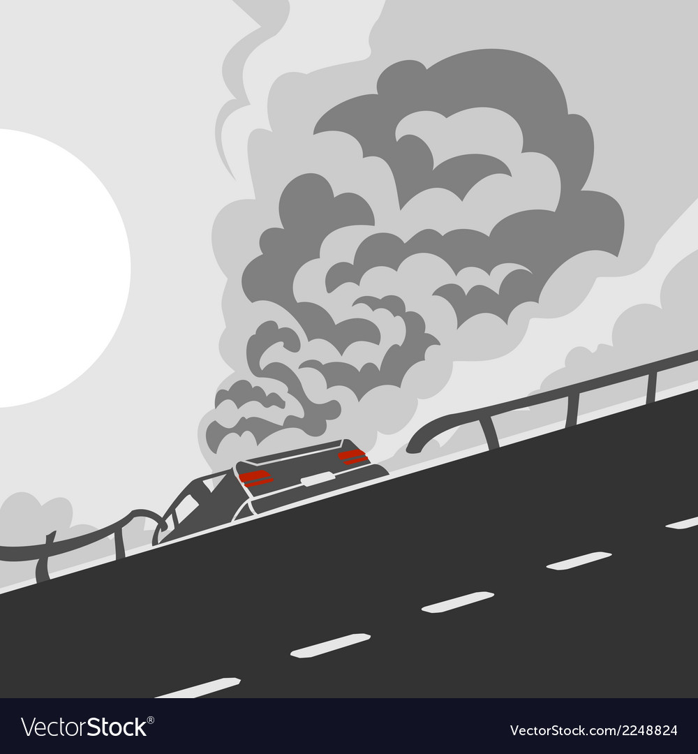 Accident on a road vector | Price: 1 Credit (USD $1)