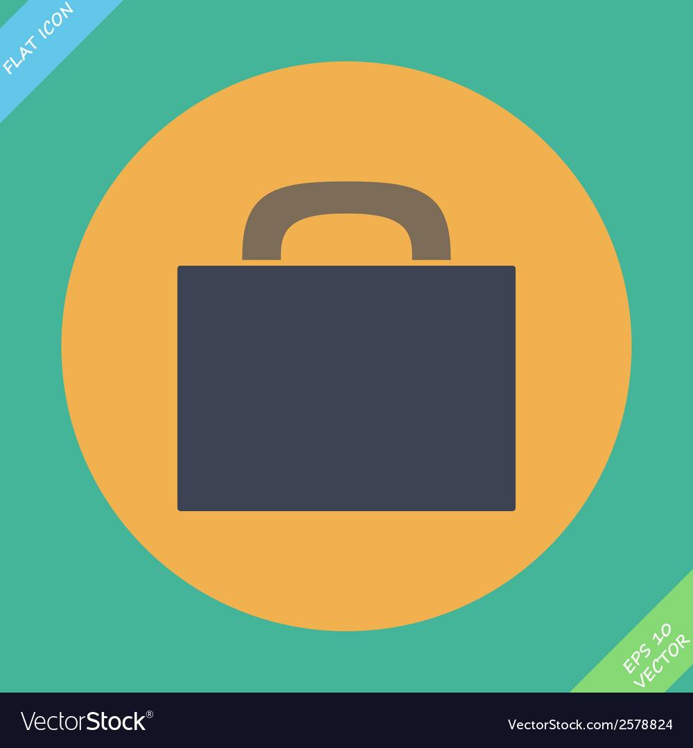 Briefcase icon -  flat design vector | Price: 1 Credit (USD $1)