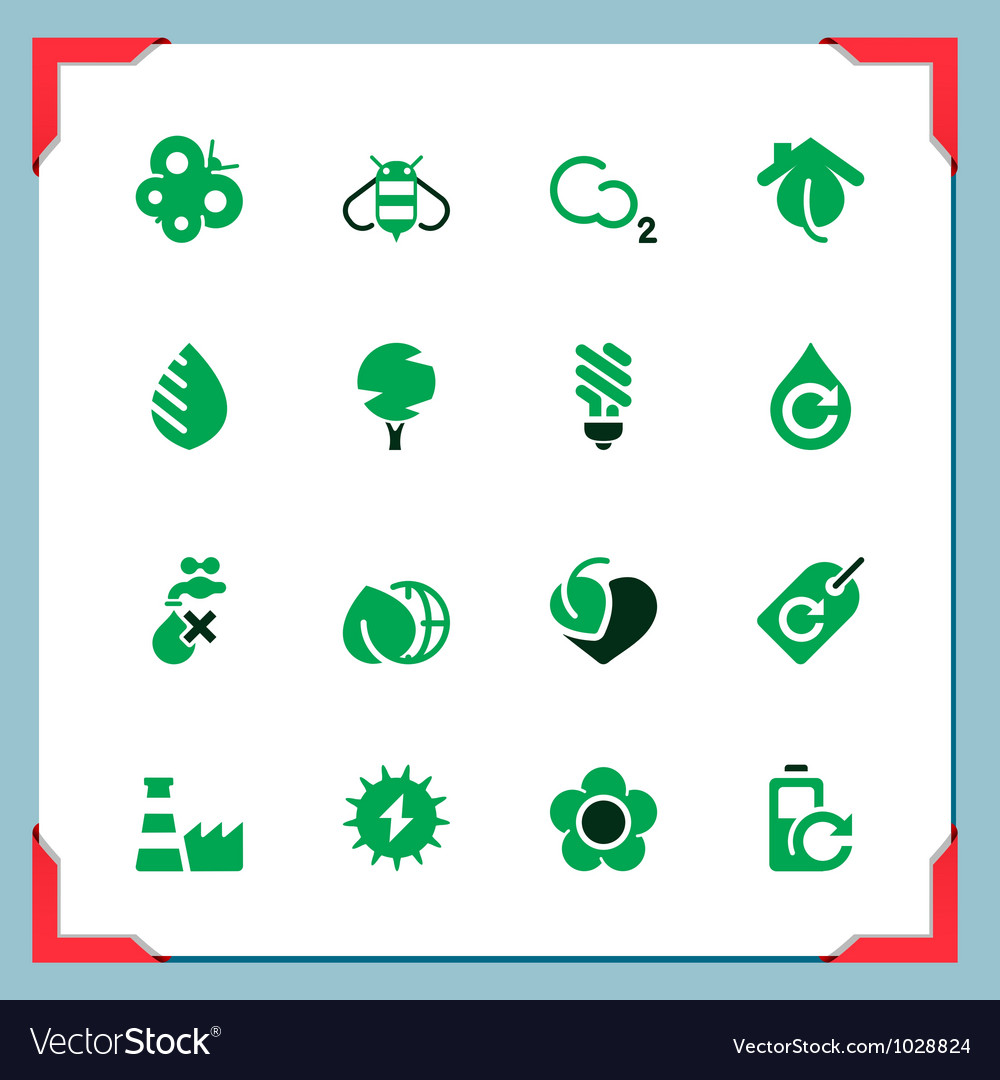 Environmental icons in a frame series vck vector | Price: 1 Credit (USD $1)