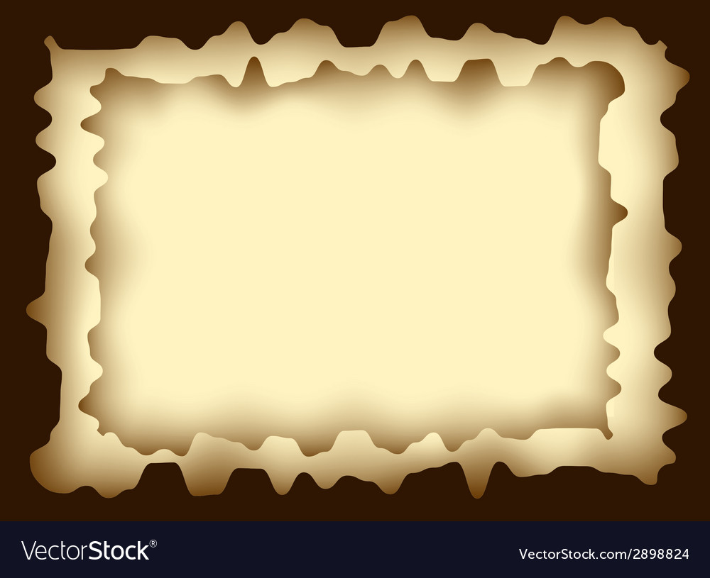 Frame from burnt paper vector | Price: 1 Credit (USD $1)