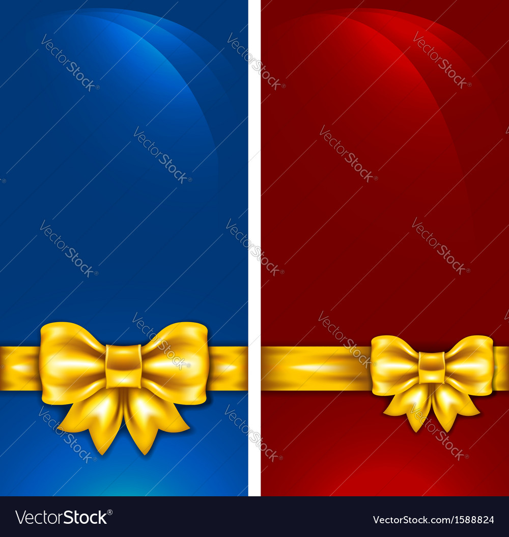Golden bow vector | Price: 1 Credit (USD $1)