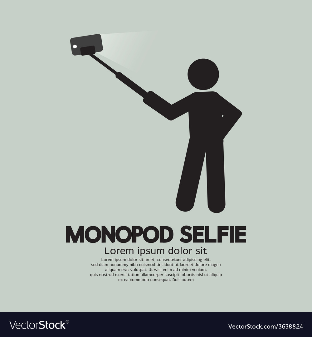 Monopod selfie self portrait tool for smartphone vector   Price: 1 Credit (USD $1)