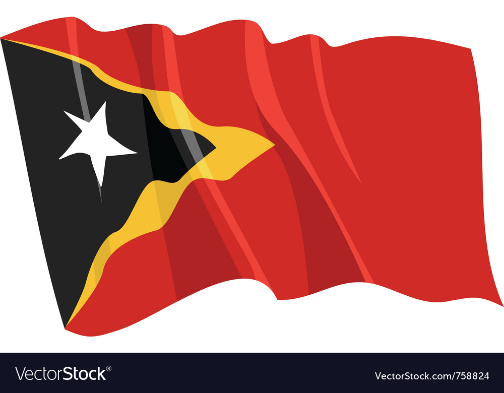Political waving flag of east timor vector | Price: 1 Credit (USD $1)