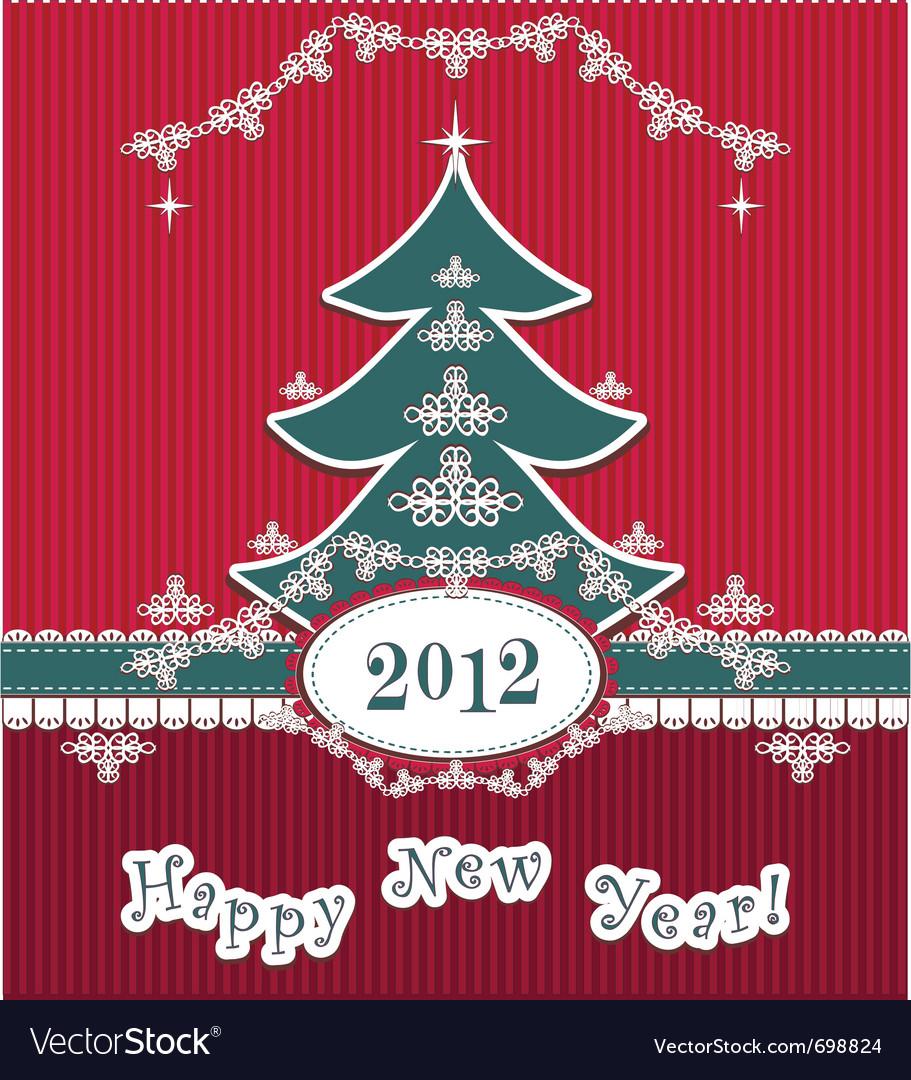 Retro happy new year vector | Price: 3 Credit (USD $3)