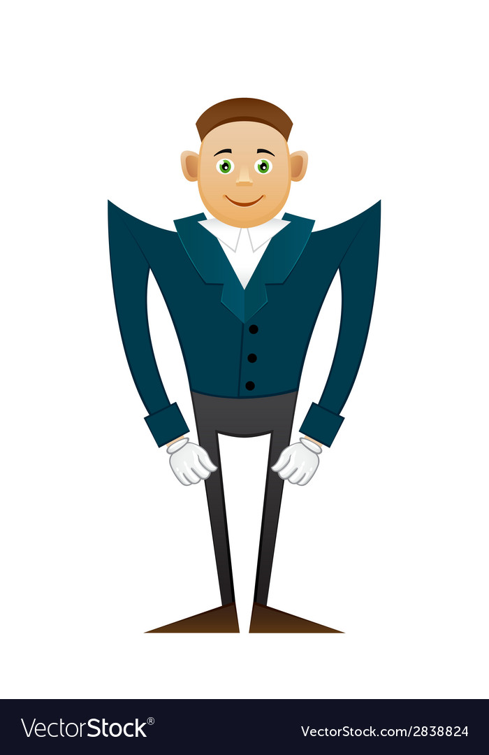 Smile office man in coat vector | Price: 1 Credit (USD $1)
