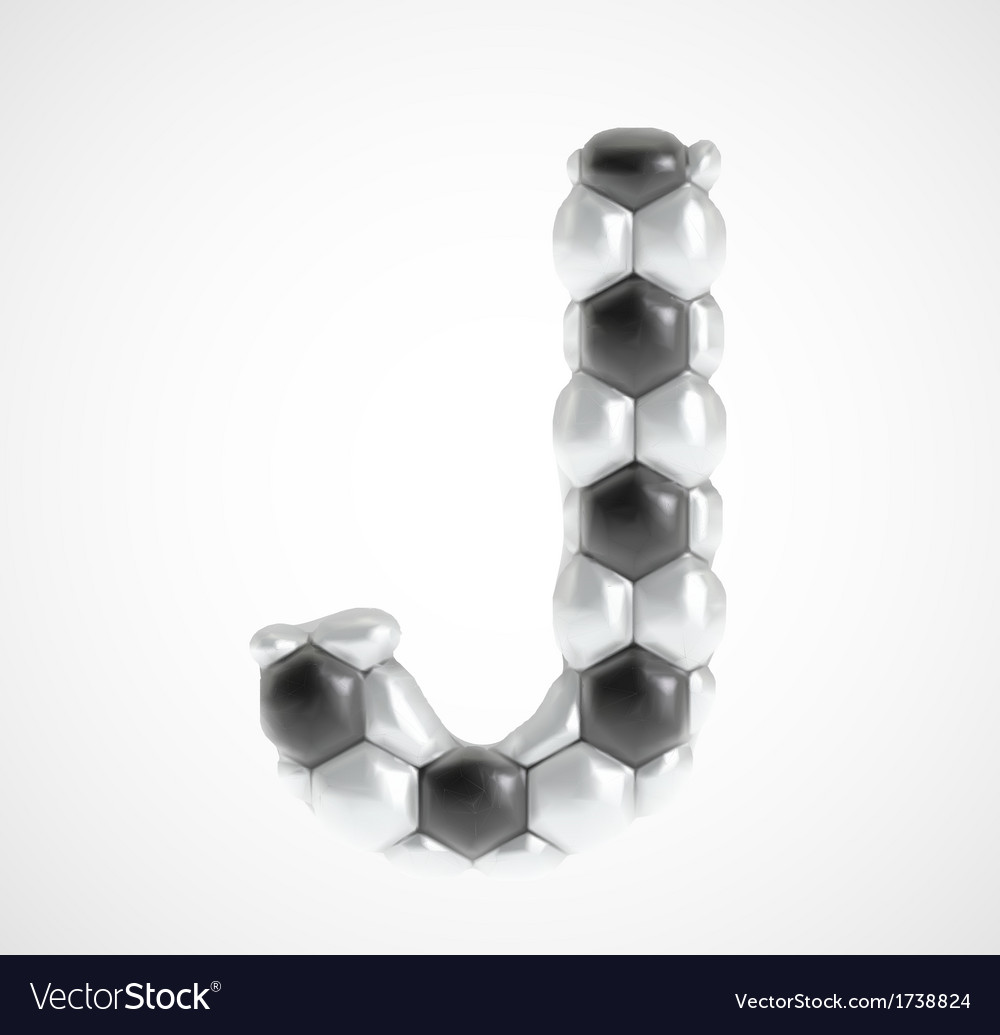Soccer alphabet eps8 vector | Price: 1 Credit (USD $1)