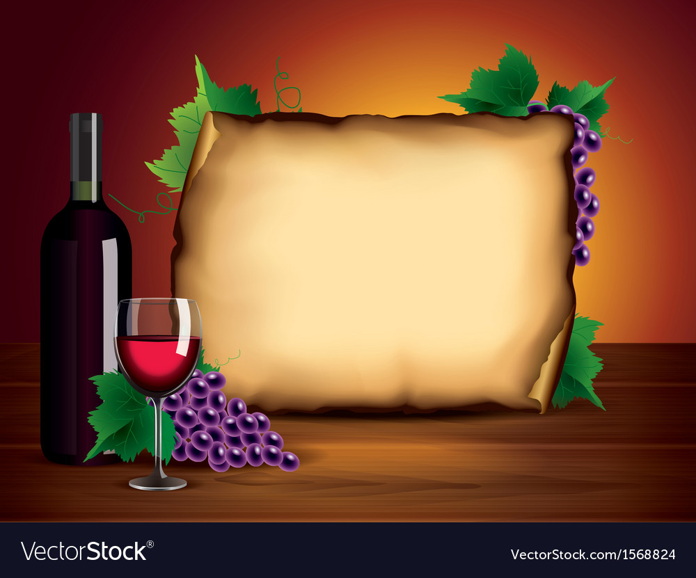 Wine bottle paper background vector | Price: 1 Credit (USD $1)