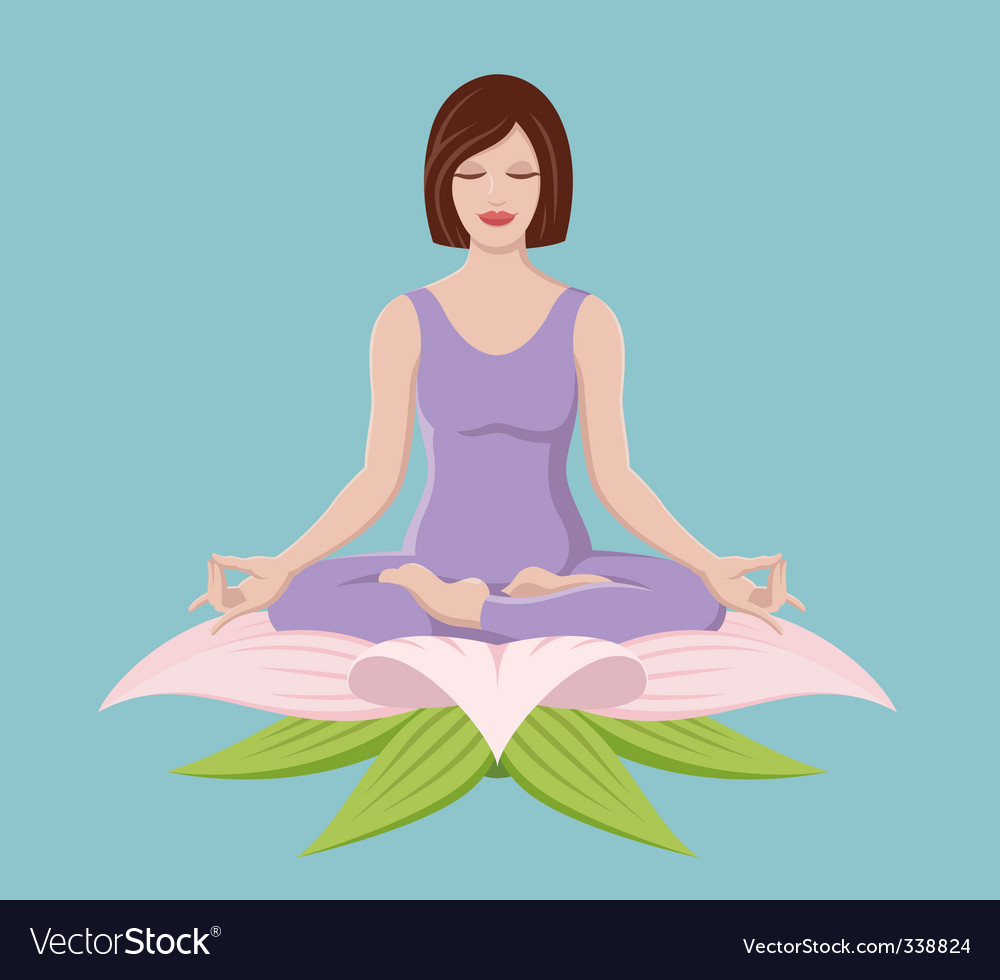 Woman doing yoga vector | Price: 3 Credit (USD $3)