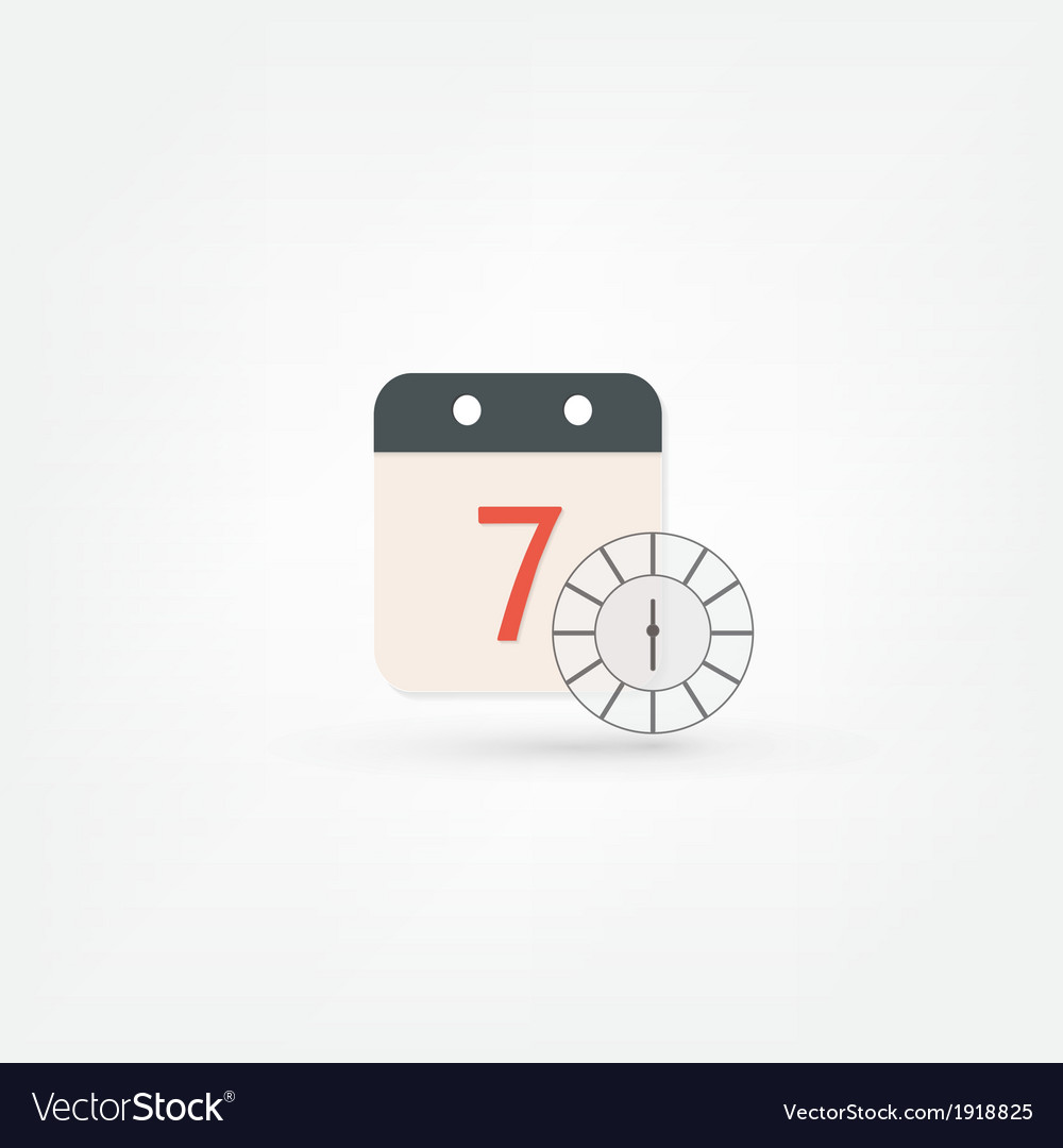Clock and calendar icon vector | Price: 1 Credit (USD $1)