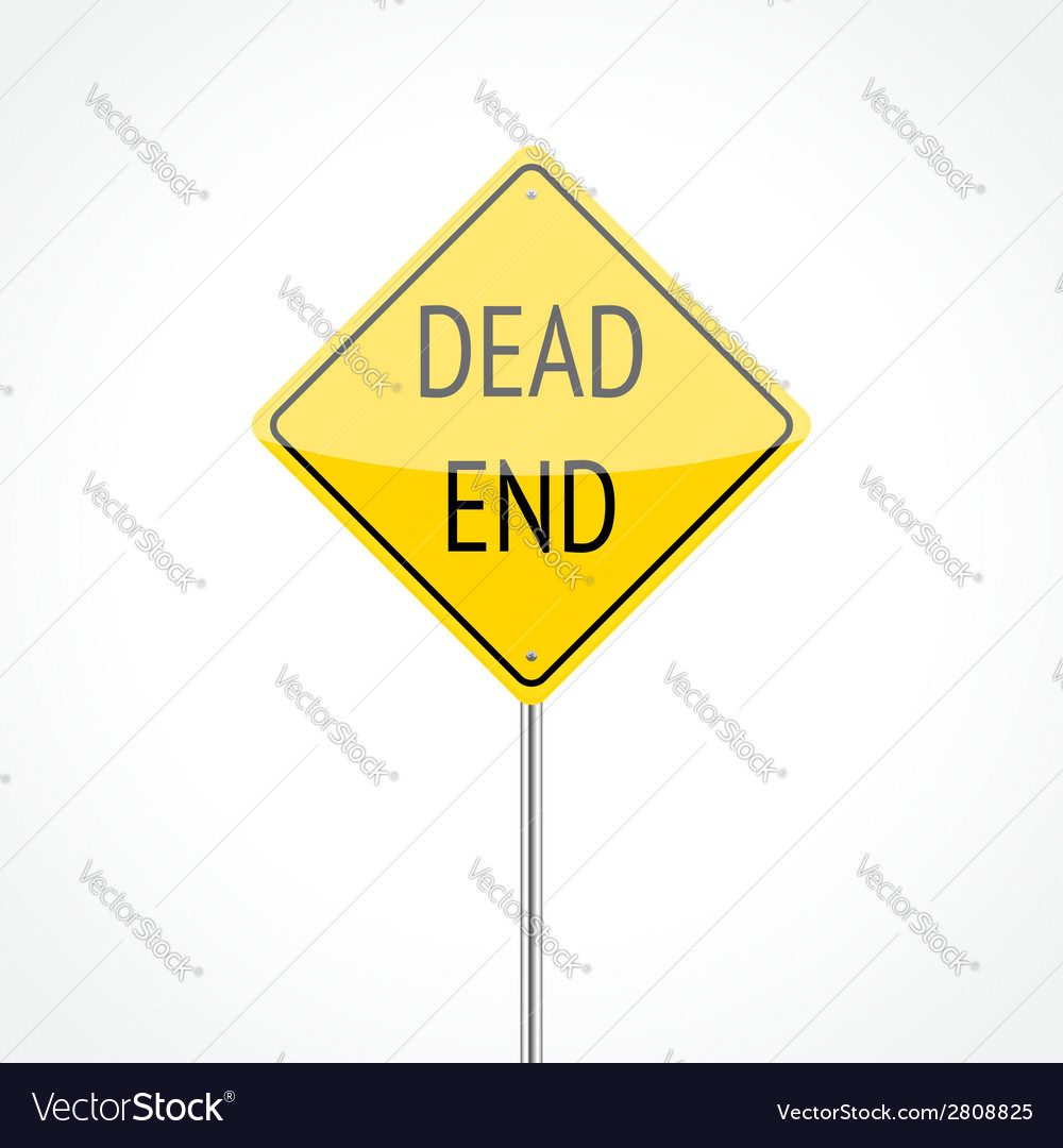 Dead end sign vector | Price: 1 Credit (USD $1)