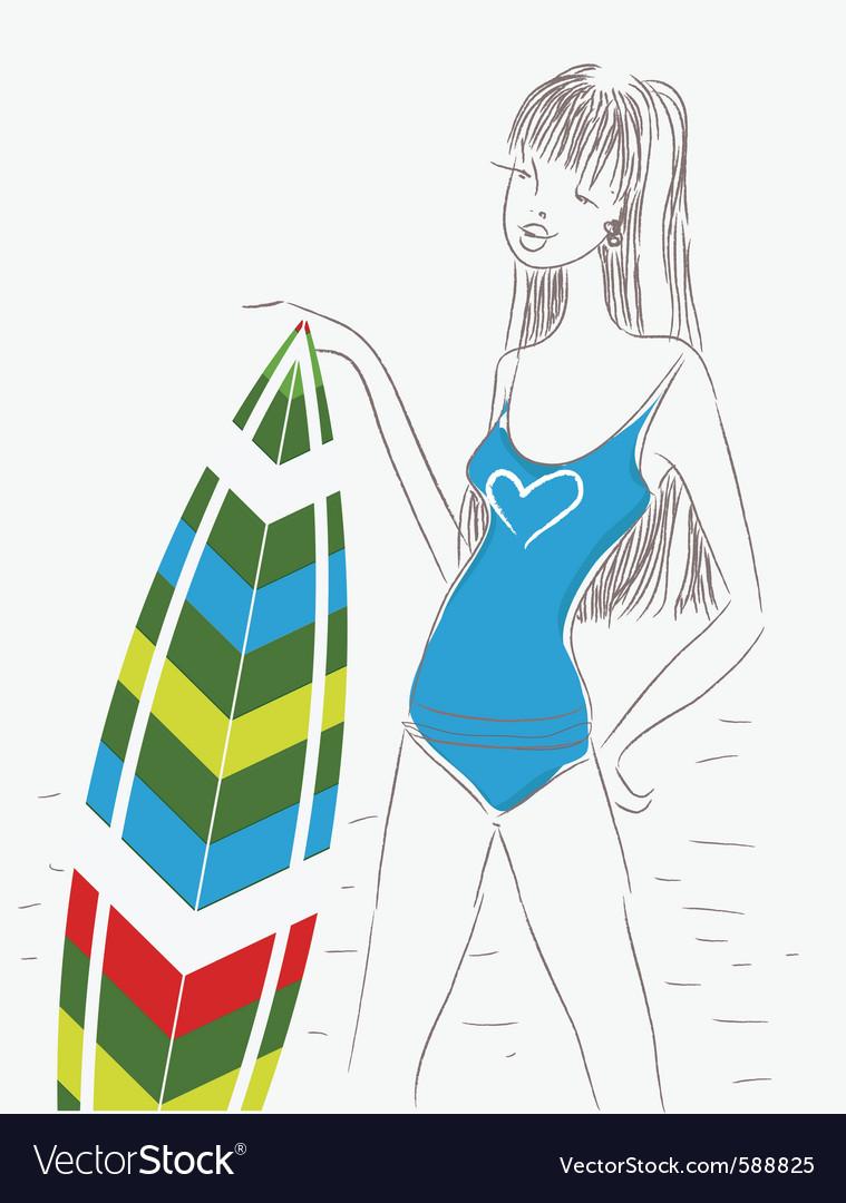 Fashion sketch vector | Price: 1 Credit (USD $1)