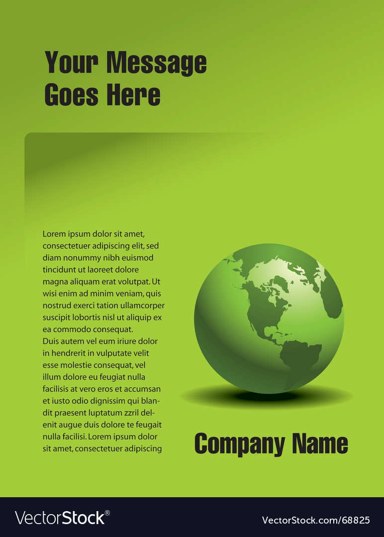 Globe page vector | Price: 1 Credit (USD $1)