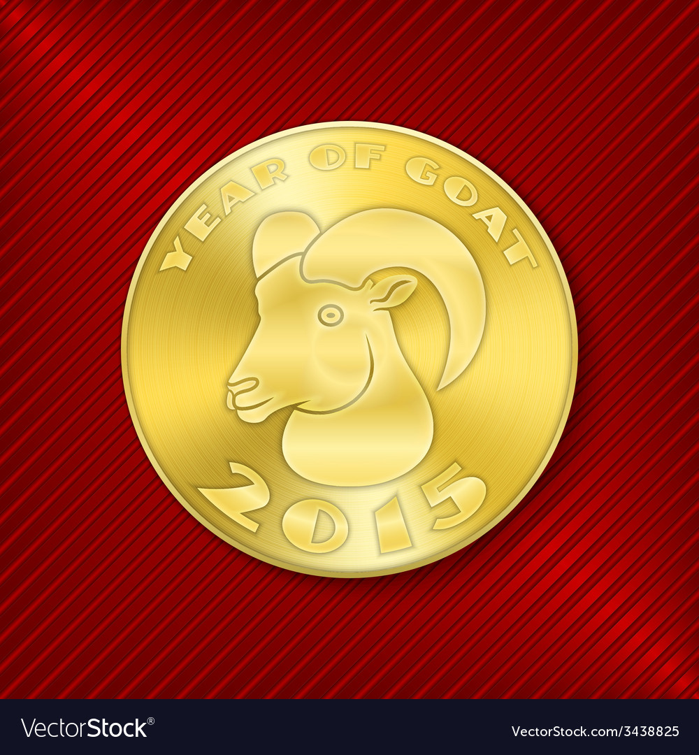 Goat coin vector | Price: 1 Credit (USD $1)