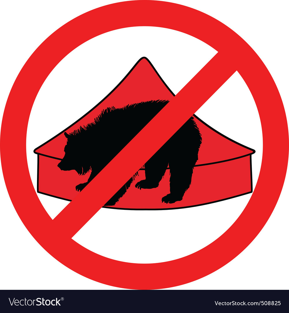 Grizzly bear in circus prohibited vector | Price: 1 Credit (USD $1)