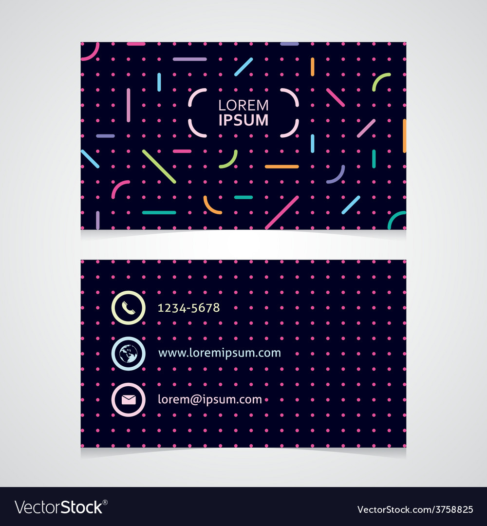 Modern business card with an abstract pattern vector | Price: 1 Credit (USD $1)