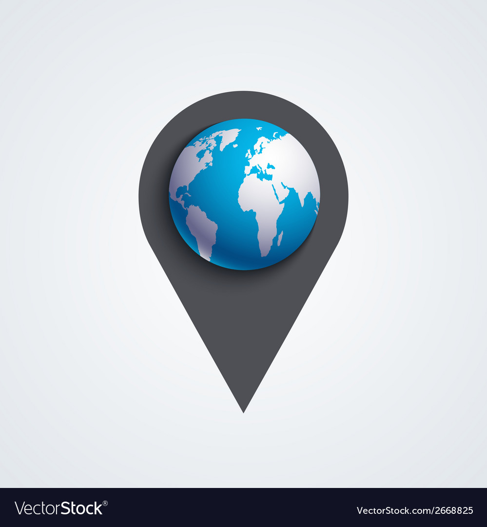 Modern map pointer icon vector | Price: 1 Credit (USD $1)