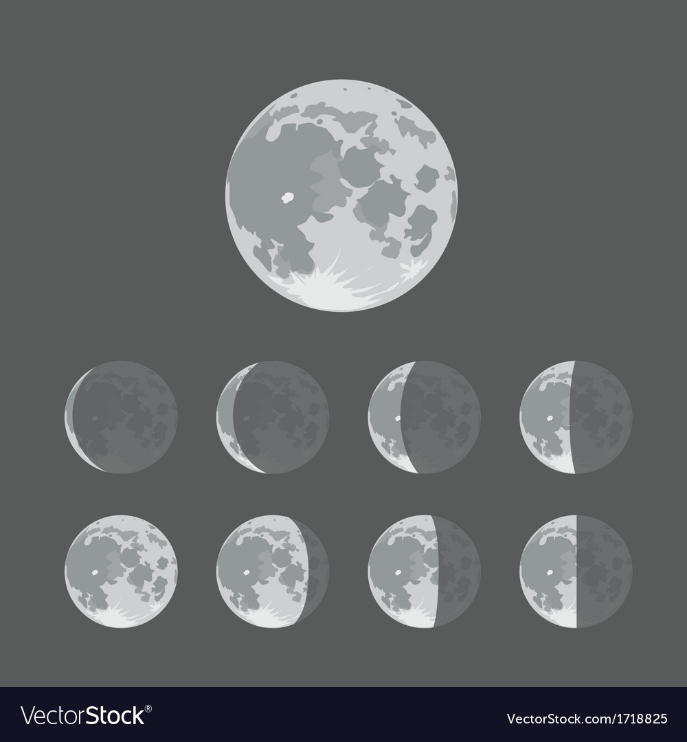 Moon vector | Price: 1 Credit (USD $1)
