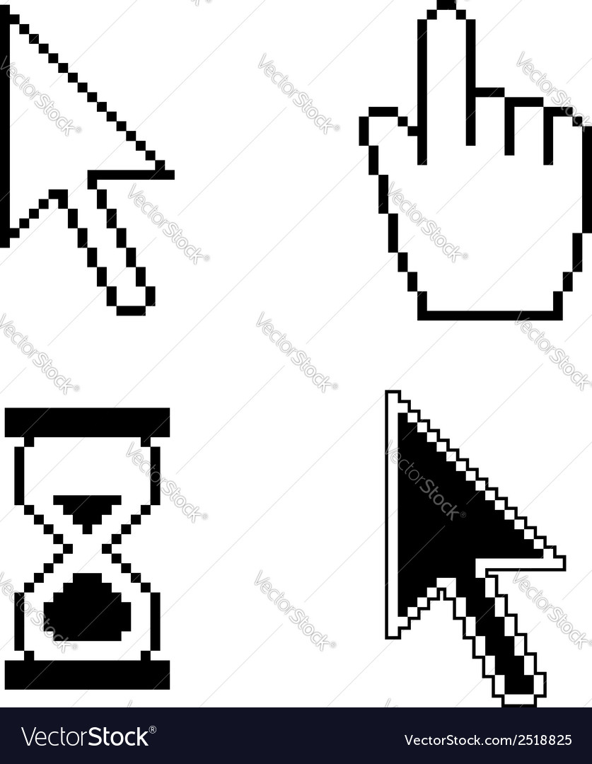 Pixel cursor icons vector | Price: 1 Credit (USD $1)