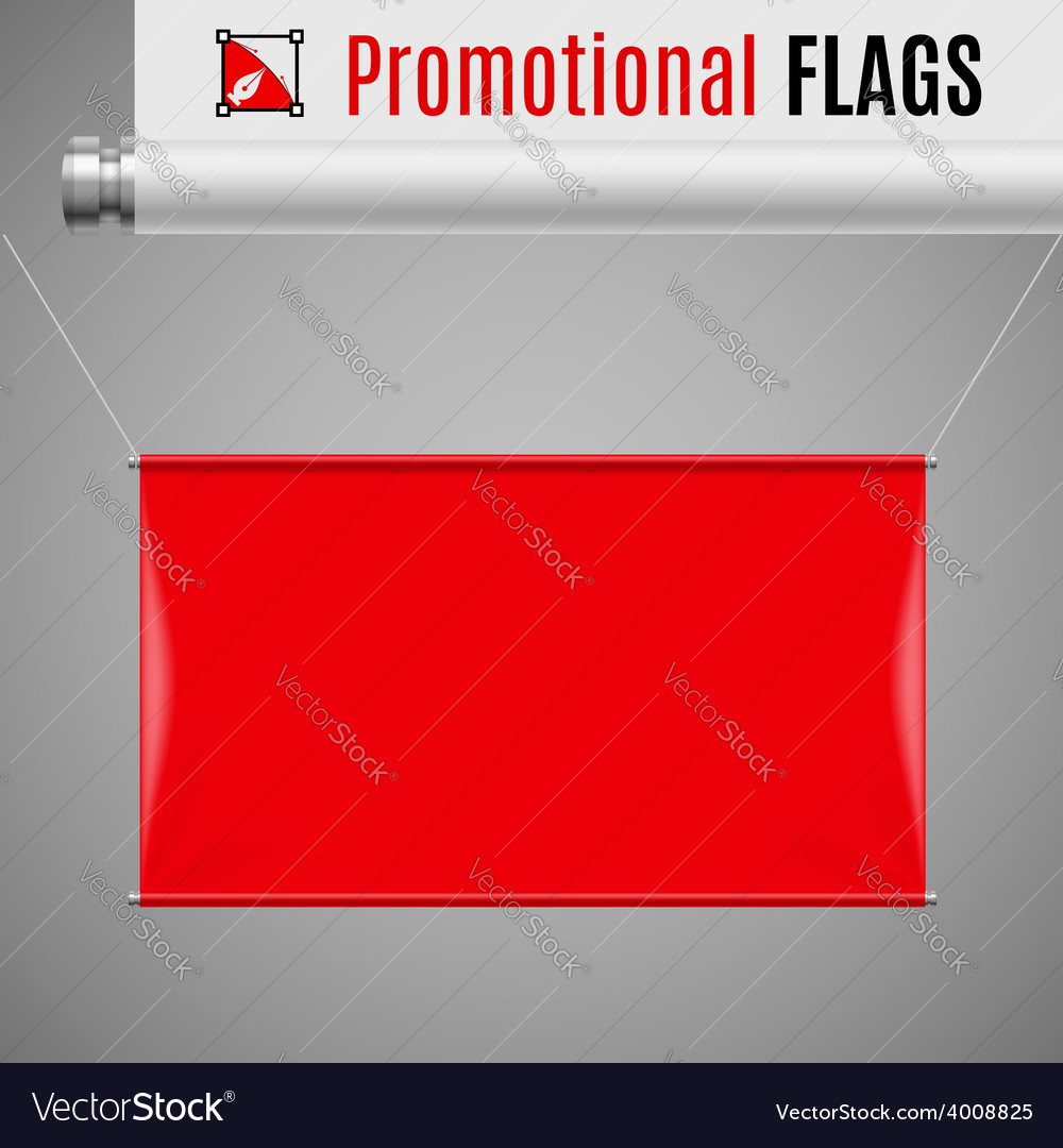 Promotional flag vector | Price: 1 Credit (USD $1)