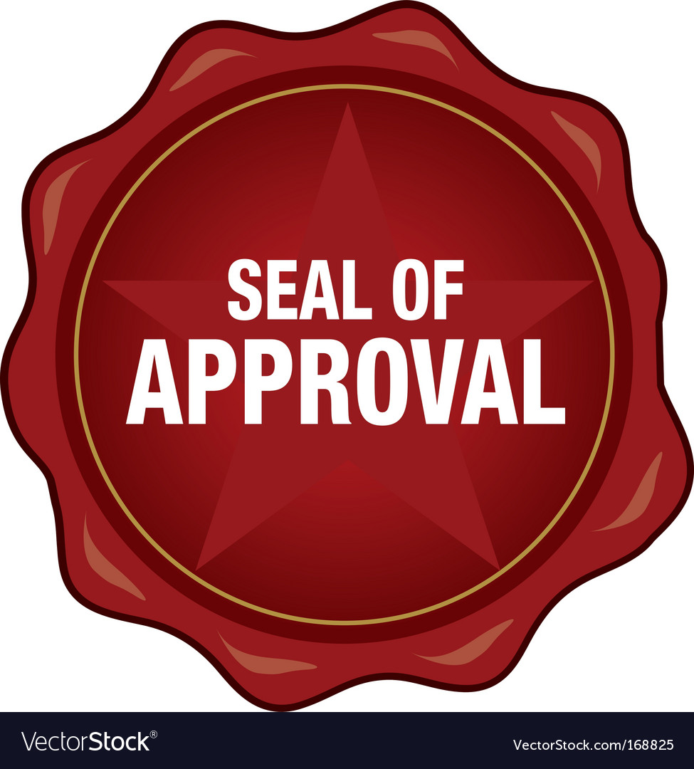 Quality seal of approval vector | Price: 1 Credit (USD $1)