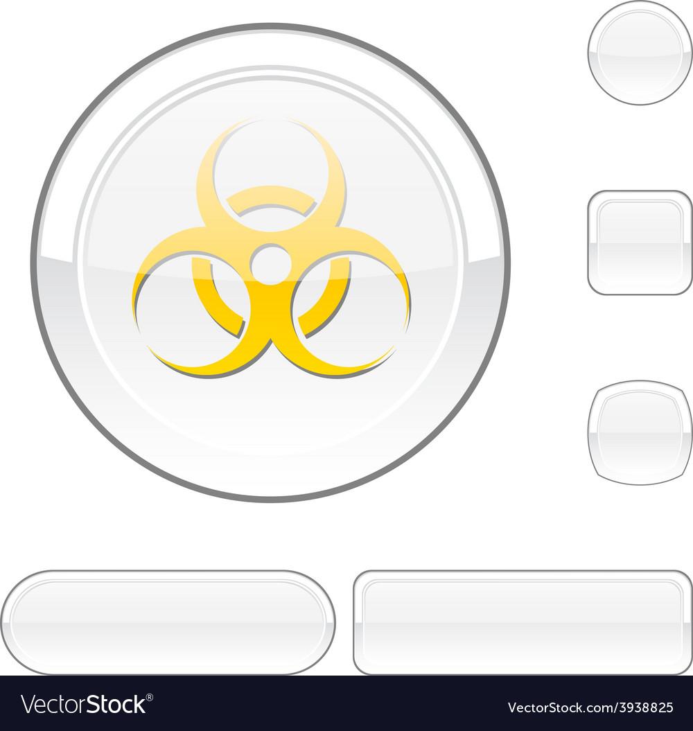 Virus white button vector | Price: 1 Credit (USD $1)