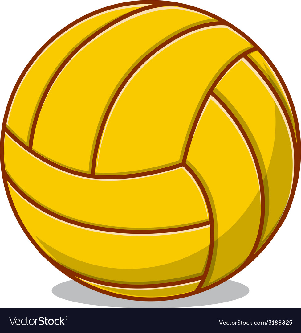 Volleyball ball isolated on white vector | Price: 1 Credit (USD $1)