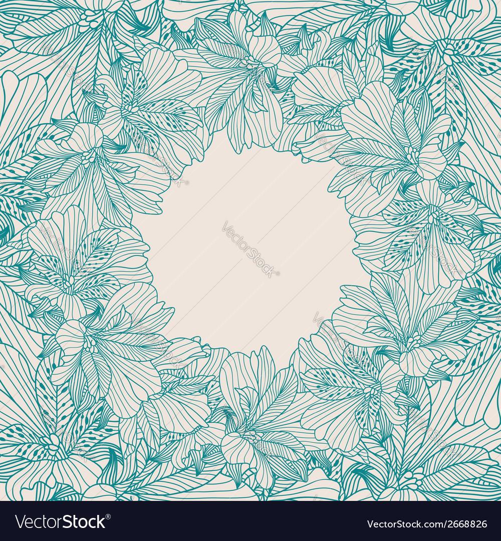 Alstroemeria round frame background vector   Price: 1 Credit (USD $1)
