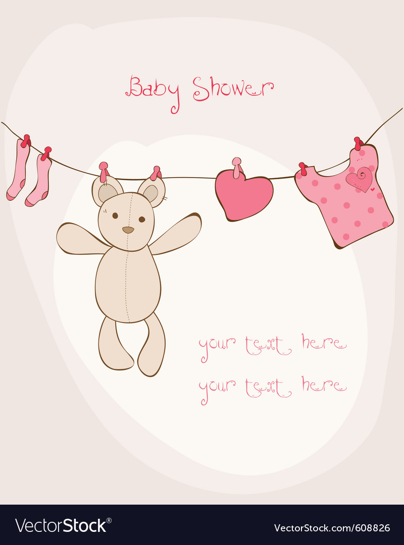 Baby shower card with place for your text in vector | Price: 1 Credit (USD $1)